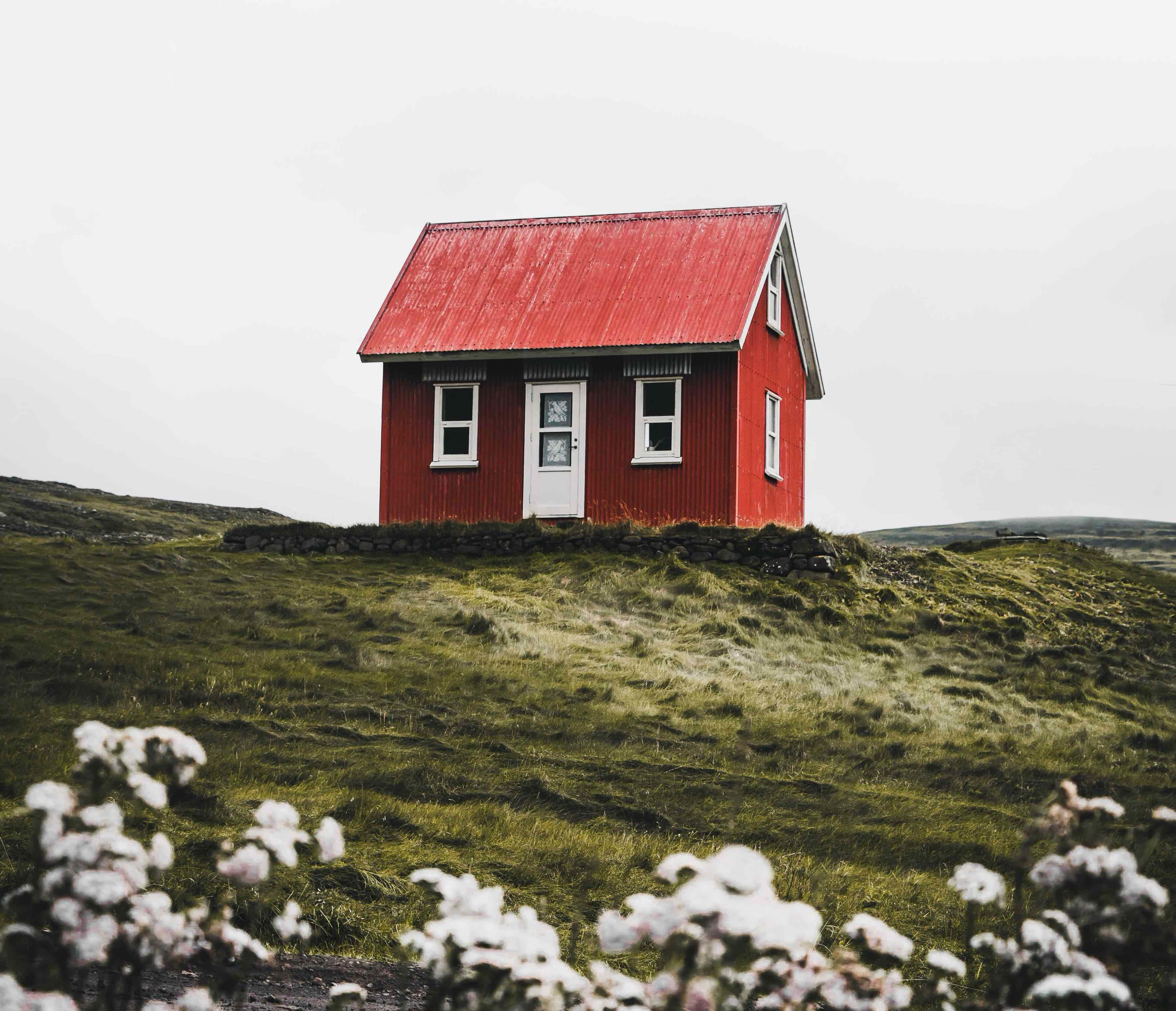 Sie sehen ein kleines Haus