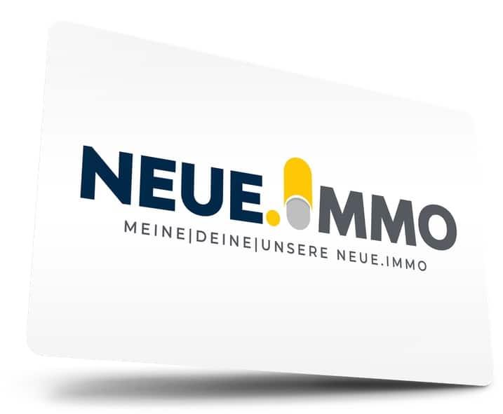Sie sehen die Visitenkarte von www.neue.immo
