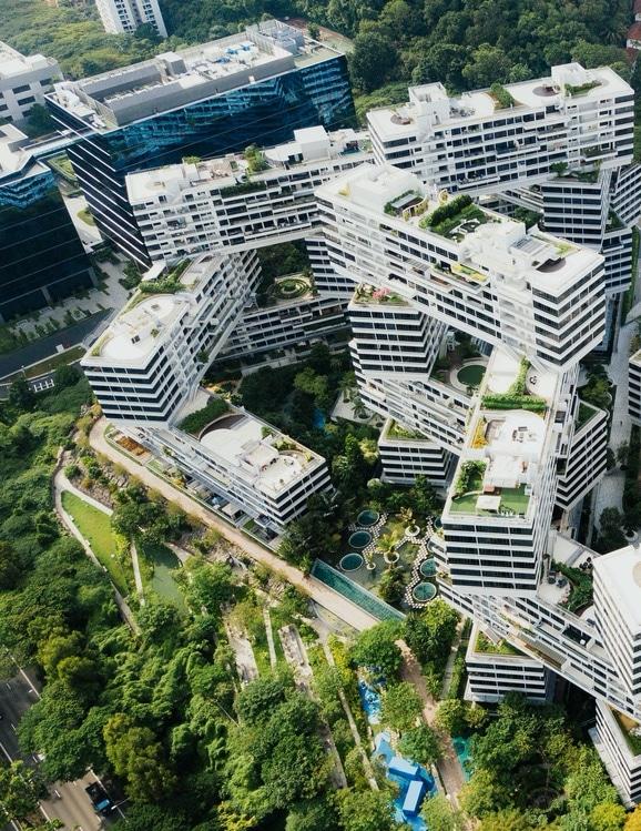 Sie sehen futuristische Wohnbauten
