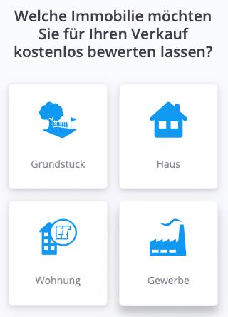 Sie sehen das Immobilien Bewertungstool von Hausgold.de