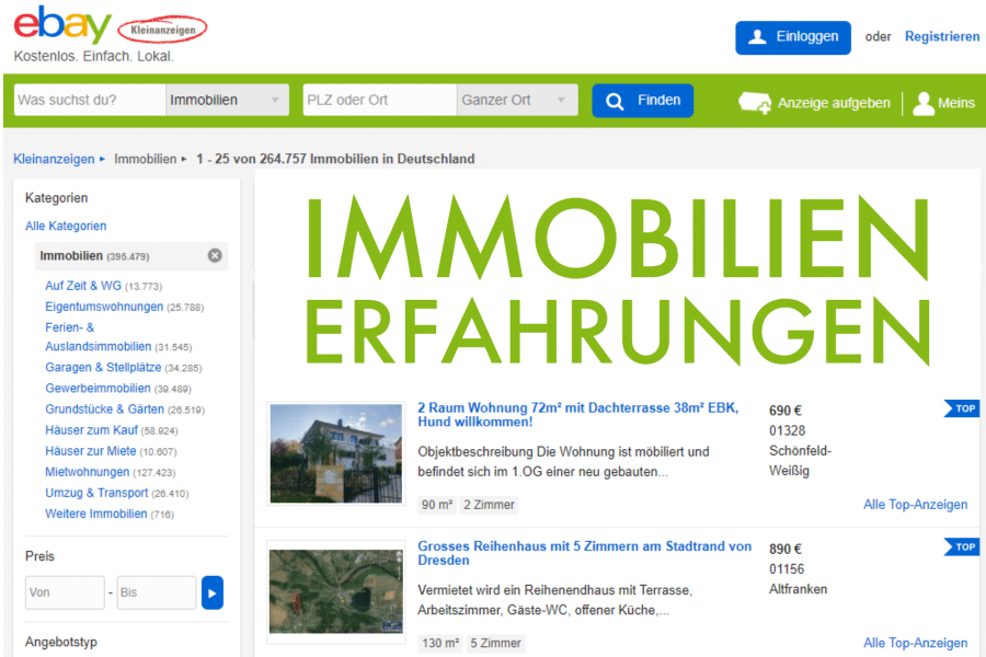 ebay kleinanzeigen immobilien erfahrung